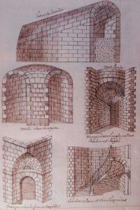 Coupe des pierres. Manuscrit inédit XVIIIe.