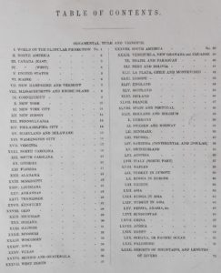 Atlas Tanner 1844 Table des cartes