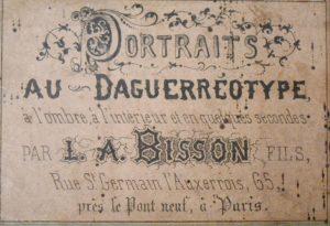 L. A. Bisson. Daguerréotype vers 1841