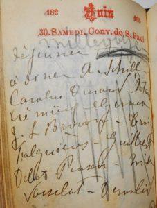 Boulanger Agenda 1888