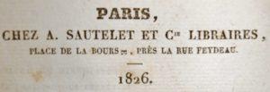 Brillat-Savarin. Pysiologie du goût. 1826.