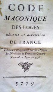 Code Maçonique R.E.R.