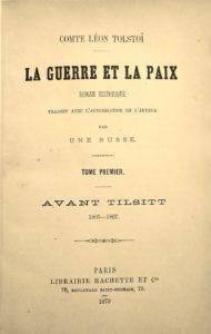 Tolstoï. Guerre et Paix. 1879. Edition originale en français.