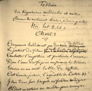 Médecine. Pamphlet en alexandrins. 1829.