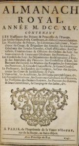 Almanach 1745 relié par René Dubuisson