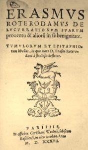 Erasme. De lucubrationum. Wechel, 1537.