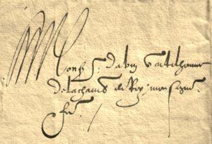 Henri III. Lettre au comte d'Abain.