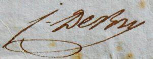 Jean de Bry. Lettre autographe signée. Besançon. 1801.