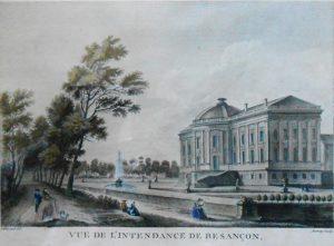 Lallemand. Besançon Eau-forte.
