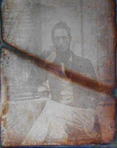 Lamartine par Bisson en 1841. Daguerréotype.