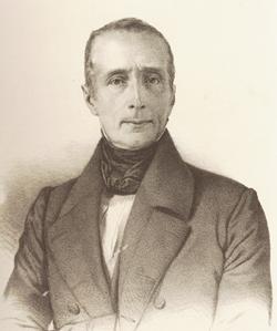 Lamartine en 1849. Litho par Maurin