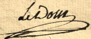 Ledoux Signature autographe