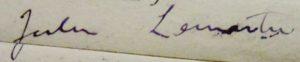 Lemaitre. Signature.