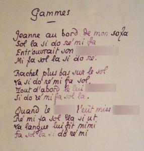 Pierre Louÿs. Gammes. Poème érotique.