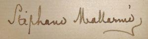 Mallarmé. Lettre autographe inédite