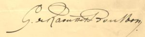 Raousset-Boubon. signature autographe.