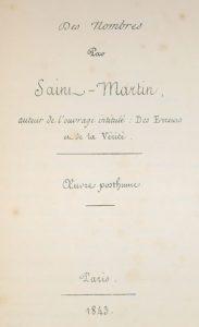 Saint-Mardin. Nombres. 1843.
