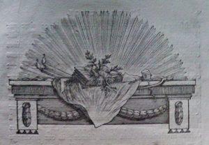 Ornement typographique maçonnique. 1778.